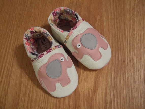cute baby girls elephant shoes size 3 6 months