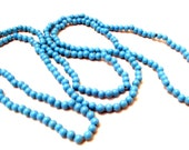 """Blue Turquoise Lace Agate Seed Beads 4mm Round 1 Full 34"""" Strand Over 200 Unique Beads"""