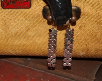 Recycled Metallic Purse Earrings