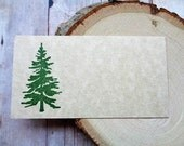 Pine Tree Place Cards Rustic Country Mountain Wedding Christmas