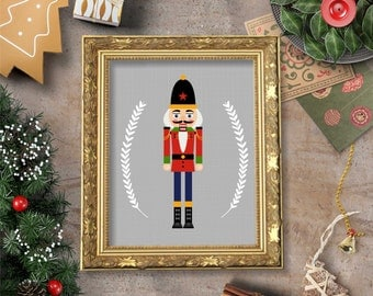 The Nutcracker Soldier Toy Wall Art Printable- 8x10 - Instant Download Holidays Winter December Christmas Snow Kids Children Home Decor