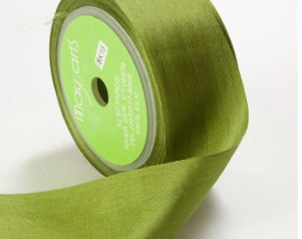 3 yds MOSS Silk Ribbon 1.25 inches wide   cheswickcompany