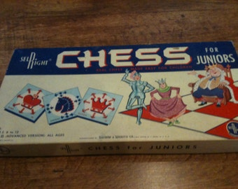 Vintage SelRight Chess for Juniors Game