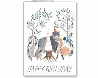 Woodland Birthday Greeting Card