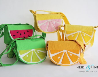NEW fruit slice cossbody messenger bag purse lemon lime orange ready to ship
