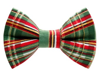 """Cat Bow Tie - """"The Home For The Holidays"""" -  Holiday Plaid"""