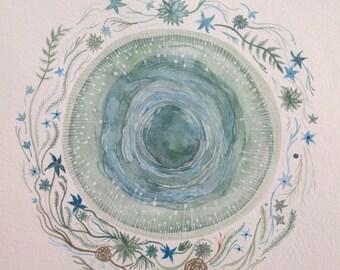 Original painting, Ode to spring starlight