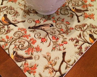Table Topper | Tablecloth | Bird Topper | Kitchen Islsnd Decor | Dine Dining