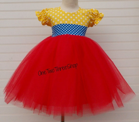 Custom Boutique Clothing Snow White Puffy Sleeve Dress