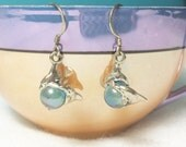 Vintage Pair of Dolphins Dolphin Twins Sterling Silver 925 Hallmarked Dangle Earrings