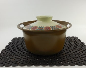 Norge Figgjo Flameware ASTRID Brown - Covered Casserole Dish Cookware - Norway Mid Century Modern