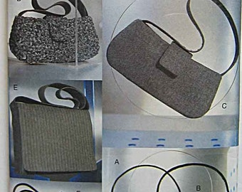 Vogue 7328 Sewing Pattern, Misses' Handbags, Bags, Purses, Accessories Cut and Complete
