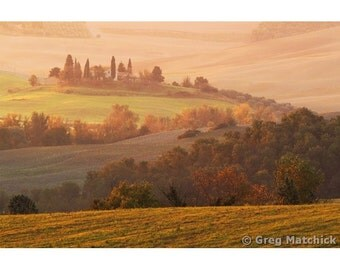 """Fine Art Color Landscape Photography of Tuscany - """"Tuscan Autumn"""""""