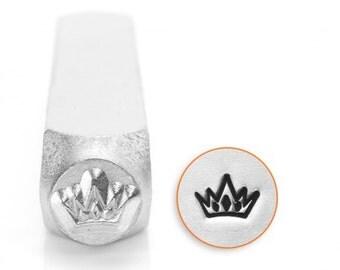 Crown Metal Stamp-Design Stamp ImpressArt- 6mm Metal Stamping Tool-Steel Stamp-Metal Supply Chick