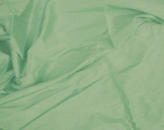silk dupioni fabric - light teal 100% pure silk - fat quarter - sld011
