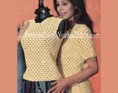 Vintage Pretty Crochet Crochetable Shell Tops Pattern PDF 722 from WonkyZebra
