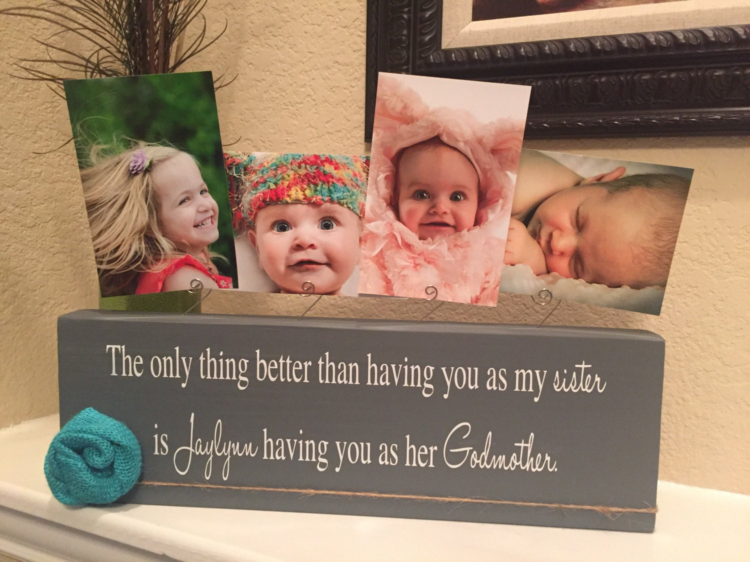 Gift for godparents personalized picture frame gift for baptism 3395 jeuxipadfo Image collections
