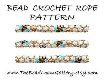 Bead Crochet Rope Pattern - Vol. 54 - Honey Bee - PDF File
