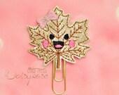 Fall Leaf Cutie Glitter Planner Clip