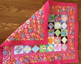 Baby Quilt -  Girly Icon Baby Quilt  * birthday gifts for her * GIfts for Mom