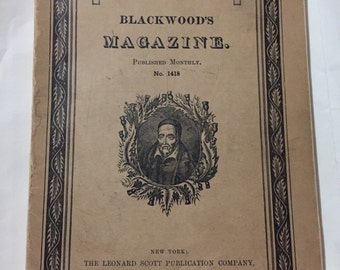 1933 Blackwoods Magazine published monthly no 1418 Edinburgh Edition 149 pages paperback covers English literature