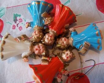 adorable caroling angel ornaments