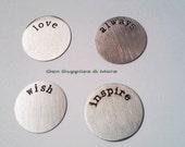 Floating Locket Plate, love Plate, always Plate, wish Plate, inspire plate, Plates  For Floating locket