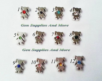 Girl Birthstone, Birthstones for lockets, Floating Charms For Floating Lockets, Personalized Floating Memory Locket