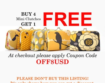 Buy 4 Clutches Get 1 Free COUPON CODE