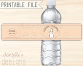 PRINTABLE Pat the Bunny Inspired Personalized Birthday Waterproof Water Bottle Labels - Digital PDF File