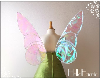 Tinkerbell Wings White Cospolay Costume Style Iridescent wings