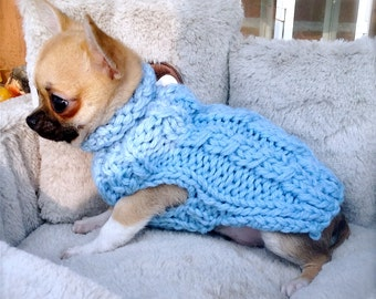 pink chihuahua coat knit sweater chihuahua little dog by nerina52. Black Bedroom Furniture Sets. Home Design Ideas