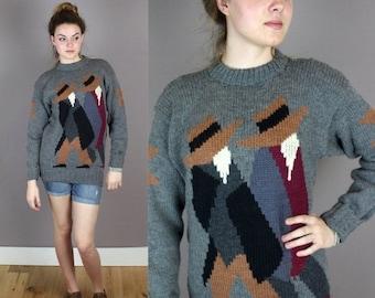 ON SALE Vintage Hand-Knit Peruvian Sweater
