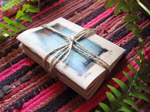 Notebooks Set of 3 Mini Traveler Journal Diary - Chose the cover of your choice