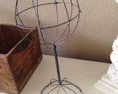 Vintage Metal Hat Stand Store Display