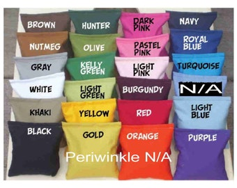 8 Cornhole Bean Bags for 20. Corn Hole Board Bags fill Clean Corn. Top Quality Duck Cloth Upholstery Thread by Southsidebeanbags