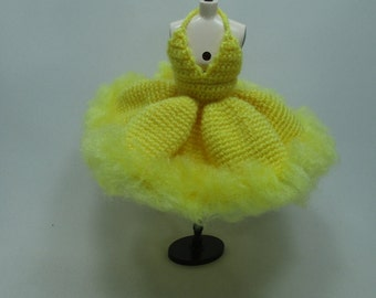 Handcrafted crochet knitting dress outfit clothes for Blythe doll # 200-52
