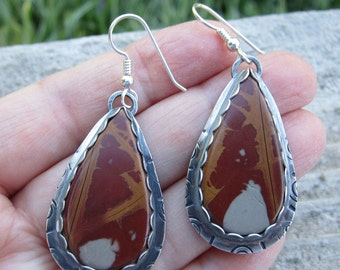 Succor Creek Jasper Sterling Silver Earrings