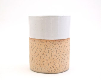 Ceramic Ivory Confetti Tumbler