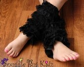 Black - Lace Leg Warmers - Girls Leg Warmers - Size 6mo. - 7/8 - Made and in stock ready to ship