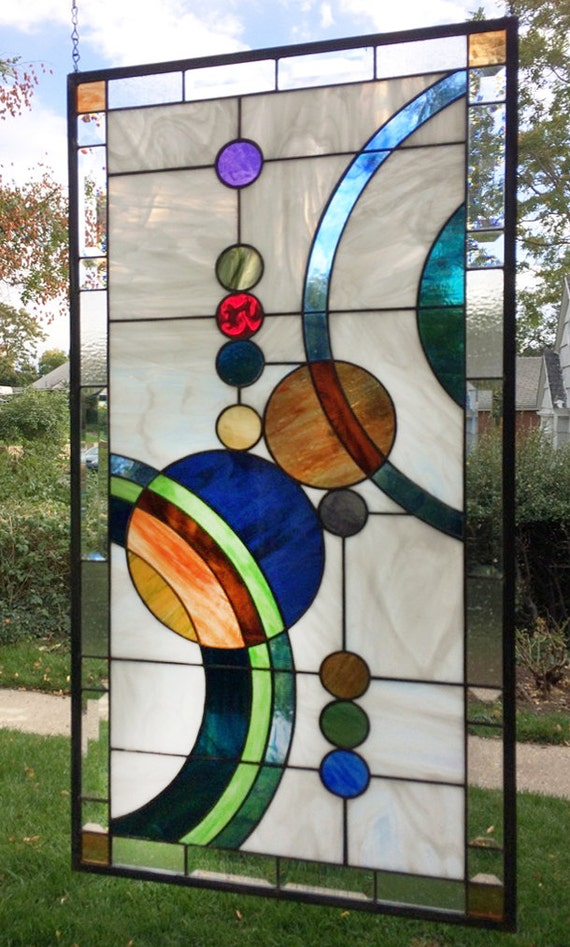 Galaxy 1 large 36 5 x stained glass window for 18 x 18 window