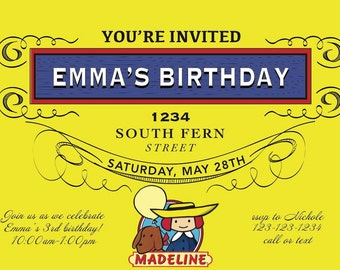 Madeline Party Invitation