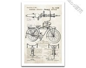Schwinn Bicycle Patent Art Giclee on archival matte paper