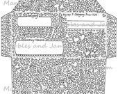 Printable cash budget envelope doubles as coloring page
