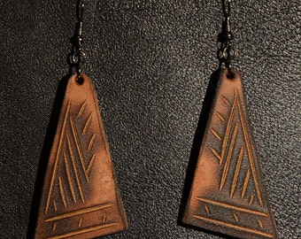 Handmade Leather Earrings. Zu-Eos.