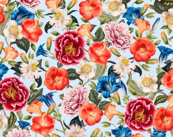 Roses Floral Nature Splendor  Quilt Fabric by the 1/2 yard