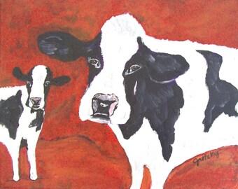 Cow A Bunga Print Poster
