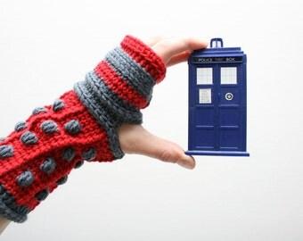 Dalek Gloves Crochet Pattern