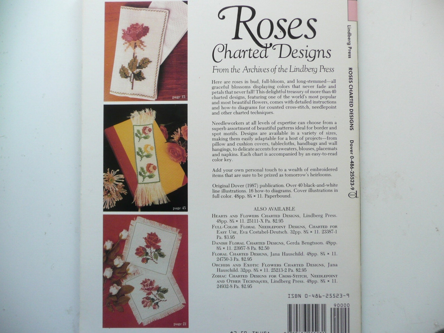 Dover book needlework series roses charted designs counted cross 795 nvjuhfo Image collections