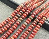Red Jasper rondelle Stone rondelle Beads 6x4mm -98pcs/Str